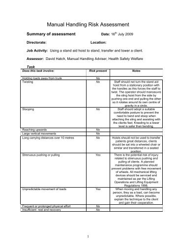the manual handling operations regulations 1992