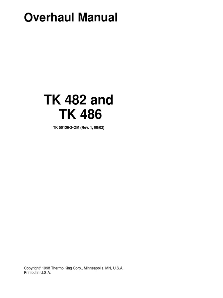 thermo king spectrum sb service manual