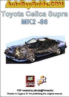 toyota celica repair manual pdf