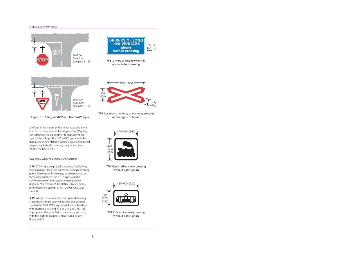 traffic signs manual chapter 3