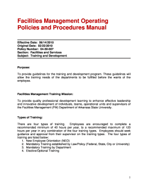 training and development policy manual