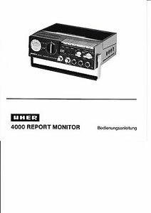 uher 4000 report monitor manual