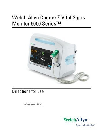welch allyn spot vital signs user manual
