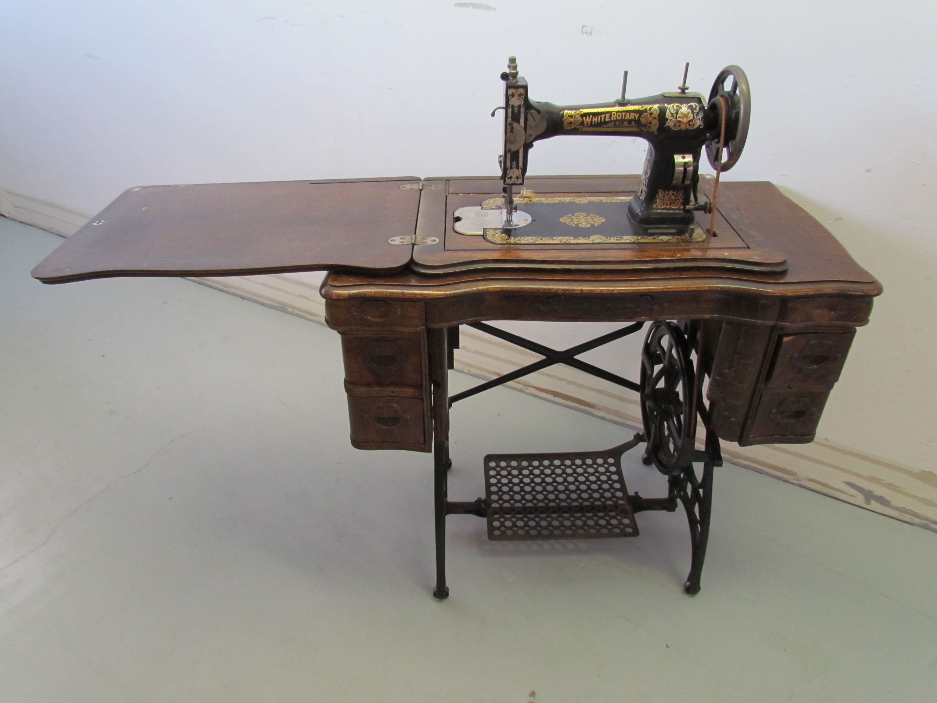 white treadle sewing machine manual