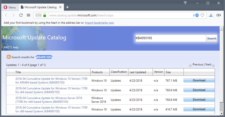 windows 10 manual update 1709