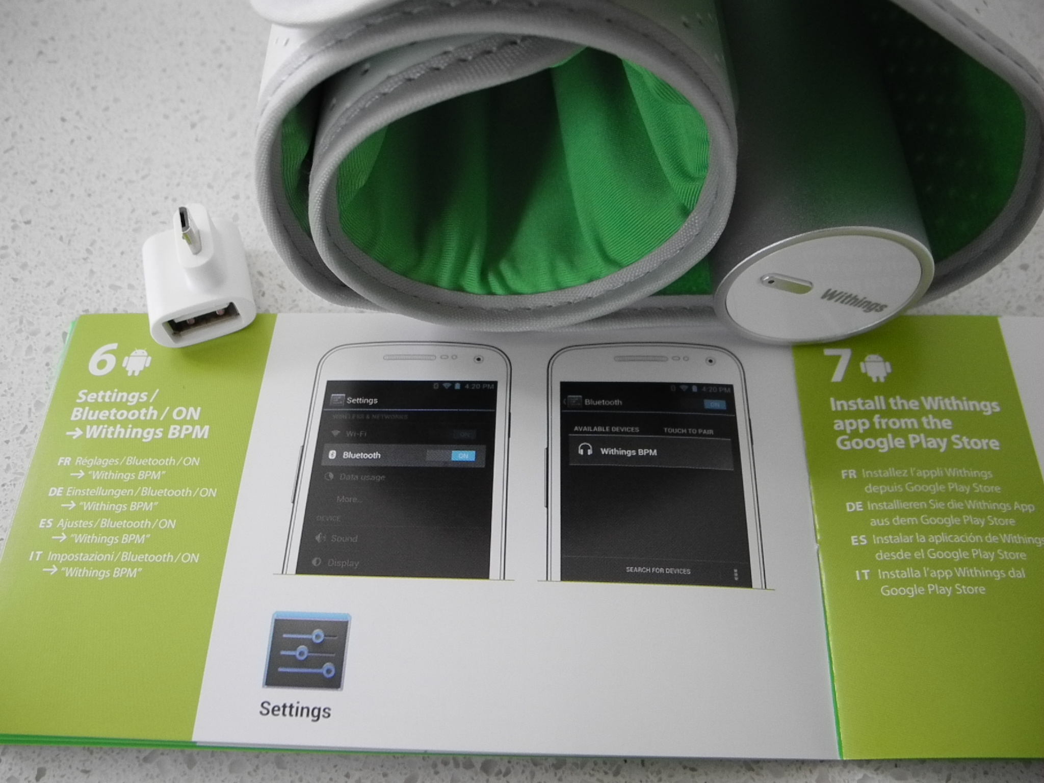 withings wireless blood pressure monitor manual